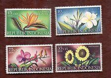 Indonesia Semipostals B104, B105, B106, B108 -- Flowers