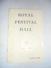 1953  ROYAL FESTIVAL HALL JOHN TOBIN   PROGRAMME BACH ST MATTHEW PASSION
