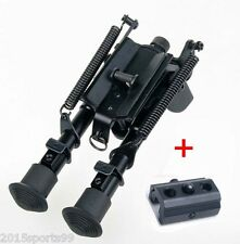 "Hunting 6-9"" Bipod Heavy Duty 50 Degree swivel tiltable Pivot with sling adapter"