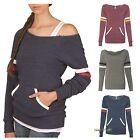 Alternative Ladies Maniac Off Shoulder Sport Eco Fleece Sweatshirt S-XL 9583