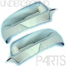 CHROME PAIR SIDE DOOR MIRROR GLASS COVERS LEFT AND RIGHT FOR VW GOLF MK4 & BORA