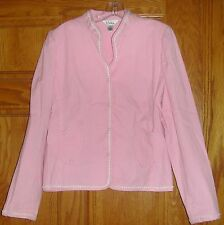 EUC Lilly Pulitzer Pink White Pinstriped Heart Pockets Jacket Blazer Size 14