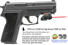 ArmaLaser GTO for Sig Sauer P229 w/rail - RED Laser Sight w/ FLX69 Grip Touch