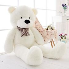 47''Giant Big Huge White Teddy Bear Plush Stuffed Soft Toys doll kids Gift 120cm
