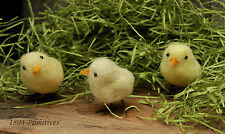 Set of 3 ~ Sweet Baby Wool Felted Chicks ~ Easter