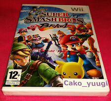 SUPER SMASH BROS BRAWL NEUF SOUS BLISTER NINTENDO WII VERSION 100% FRANCAISE