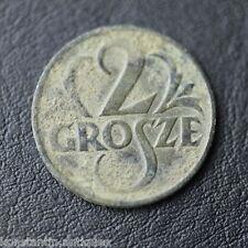 Antique 1925 coin 2 two GROSZE great patina Poland Piłsudski original gift