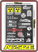 RC DRIFT STICKER SHEET A6 1/10 ABC HPI MST YOKOMO TAMIYA BODY PANDORA 3 RACING 3