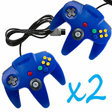 2 PCS NEW Long Controller Game System for Nintendo 64 N64 Blue US Ship