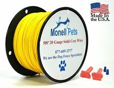 Perimeter Compatible Electric Dog Fence Solid Boundary Wire 20 Gauge 500'