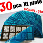 NEW 30pcs XL FULL Nail Stamping Plate Stamp Disc Print Transfer Template Stencil