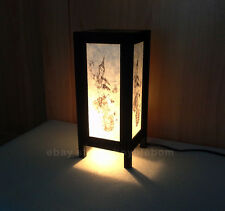 Lantern Lamp Asian Oriental Art Paper Table Desk Goddess Thai Religion
