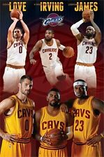 2014 NBA BASKETBALL CLEVELAND CAVALIERS TEAM POSTER JAMES IRVING LOVE NEW 22X34