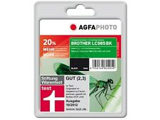AGFA PHOTO BROTHER  LC-985 B Bk BLACK schwarz DCP J315W J140W J515W