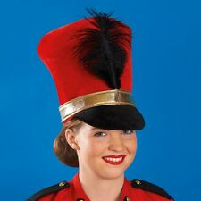 Rouge doux soldat chapeau-militaire cirque fancy dress-majorette dance