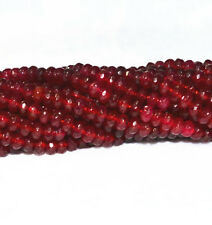 AA4x6mm Beautiful Red Garnet Roundel faceted Beads 15 ""
