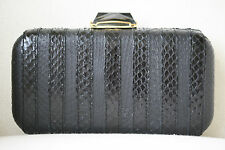 KOTUR BREEN BLACK SNAKE BOX CLUTCH BAG