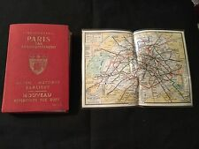 L'Indispensable Paris par Arrondissement map guidebook 1973 plus metro map
