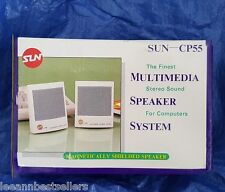 PAIR OF COMPACT SUN-CP55 MULTIMEDIA UNIVERSAL SPEAKERS