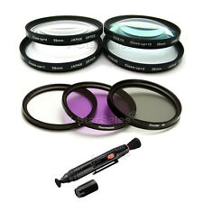 55mm UV CPL FLD Filter Kit + Close up Macro +1 +2 +4 +10 Filter Kit