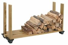 Firewood Rack System Wood Log Holder Storage Carrier Fireplace Outdoor 2x4 Black
