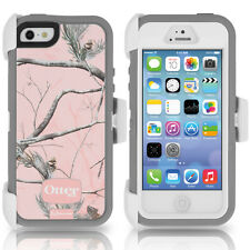 OtterBox Defender iPhone 5 5S Case & Holster RealTree Camo AP Pink OEM Original