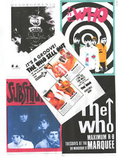 5 WHO POSTCARDS. THE WHO, Quadrophenia, scooter, mod.