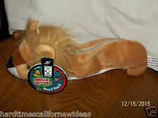 Geddes Jungle Critters Pencil Pouch Lion Plush With Tag