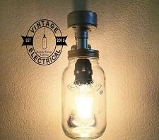 NEW INDUSTRIAL KILNER JAR WALL LIGHT FEATURE LIGHTING MASON SCONCE MASON LED