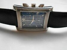 EXCELLENT KOLBER GENEVE SWISS SQUARE CASE MENS CHRONOGRAPH WATCH NEAR MINT