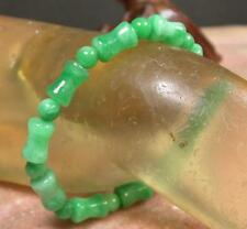 CHINESE Green JADE Bead Beads Bamboo Bangle Bracelet 261762 US