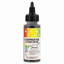 Chefmaster Black Liquid Candy Color, 2 Ounce Free Shipping! NEW