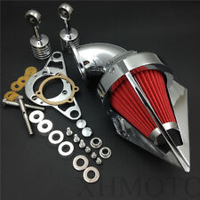 Cone Air Cleaner for Harly Softail Fat Boy Dyna Street Bob Wide Glide Chrome