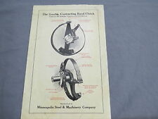 Vintage Twin City Clutch Pulley Band sales Brochure Tractor Oil Engine 1910's