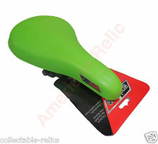 "Bike Seat Bright Green Saddle BMX Small Junior Kids 12 16 20 24"" New Bicycle 787"