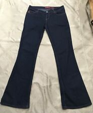 Miss Sixty Extra Low TY Dark Denim Boot Leg Jeans Sz 31 11/12 Euc Worn Once