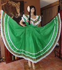 XL~SEXY~Green~White~Red~Colors 2PC Dress~Flow For Latin Folkloric Dance*Handmade