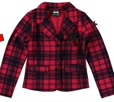 S&D Le Chic Baby Girl Hot Pink/navy Tartan Check Jacket Blazer Coat 12-18m £45