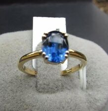 1.62 cts Genuine Kyanite Solitaire Size 7 Ring 10k Yellow Gold