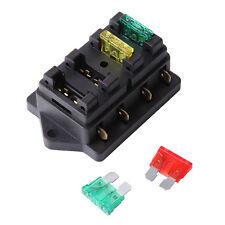 12V/24V Fuse Holder Box Block 4 Way Car Vehice Circuit Automotive W/ 4 Blad