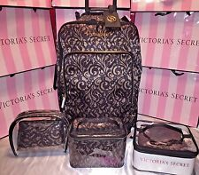 Victorias Secret Luggage Wheelie Jet Set W/Train Case 7 Piece Set