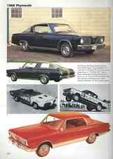 1966 Plymouth Barracuda Formula S + Valiant Article - Must See !!