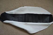 FLU BLACK/WHITE PLEATED GRIPPER SEAT COVER  HONDA CRF250R CRF250  2004-2009
