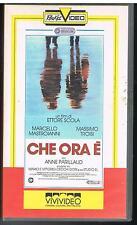CHE ORA E' - ETTORE SCOLA - MASTROIANNI - TROISI - PARILLAUD - 1988 - VHS