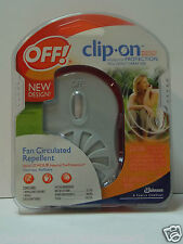 OFF CLIP ON MOSQUITO PROTECTION FAN & REFILL CIRCULATED REPELLENT ODORLESS  NEW