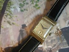 RARE WHITE GOLD FILLLED 1950 BULOVA...ACADEMY AWARD  MEN`S  WATCH...SERVICED