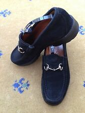Gucci Mens Shoes Black Suede Horsebit Loafers UK 5 US 6 EU 39 Unisex
