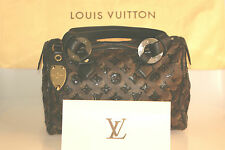 Louis Vuitton Monogram Eclipse paillettes SPEEDY 28 NOIR BORSA fattura Bag Top