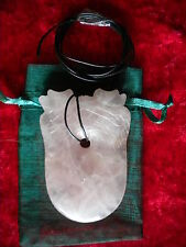 rose quartz double dragon pendant new line