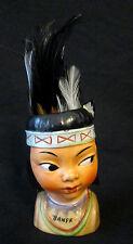HTF Vintage Indian Boy Native Japan Head Vase